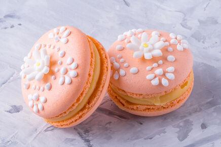 Macarons cu decor FLORI 9