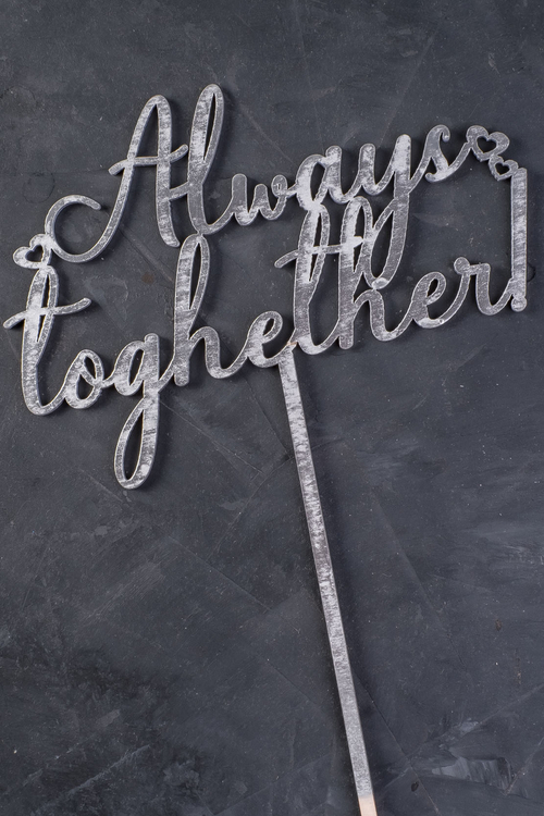 "Topper ""Always together"" argintiu"
