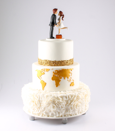 Tort de nunta cu harta