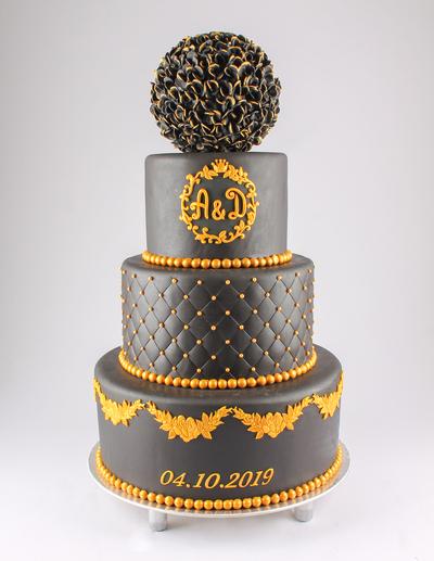 Tort de nuntă negru