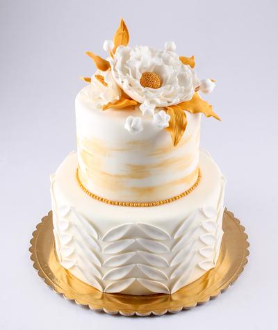 Tort pentru nunta cu floare