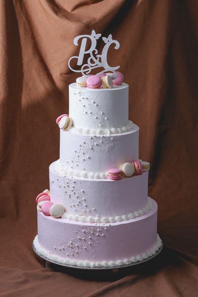 Tort pentru nunta cu macarons