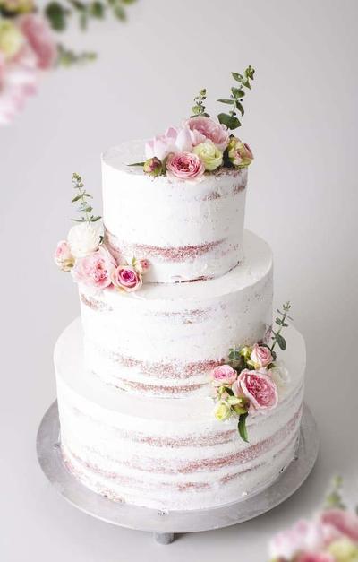 Tort pentru nunta naked cake
